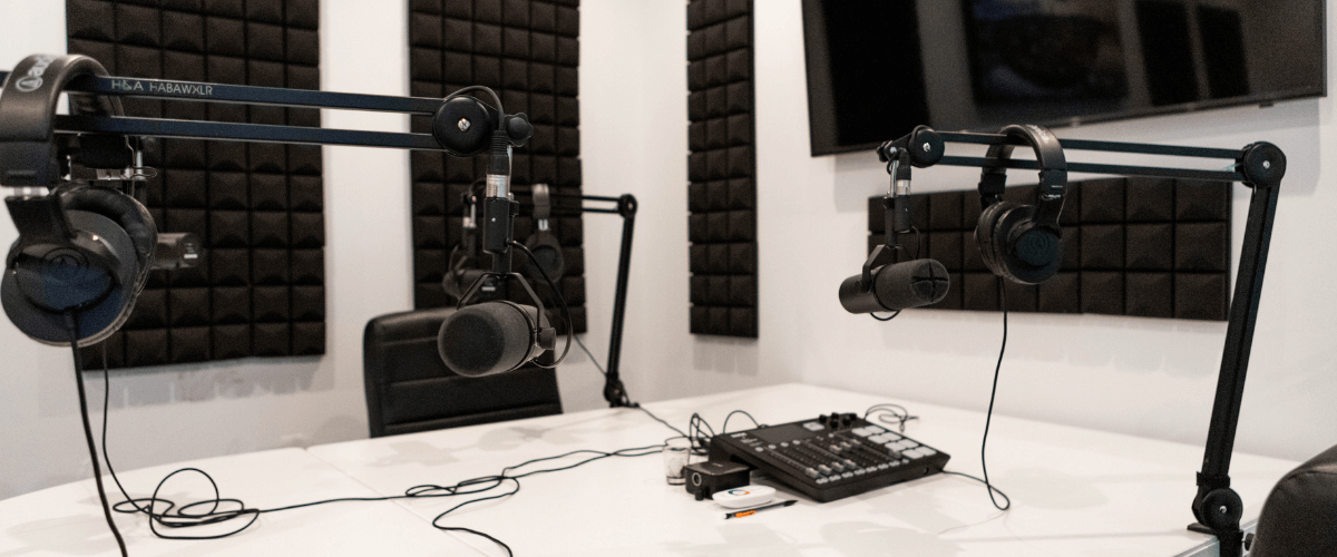 mics and table