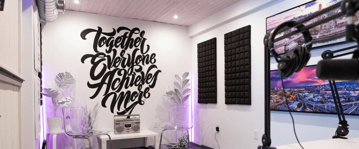 decorated studio