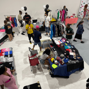 people selling clothes